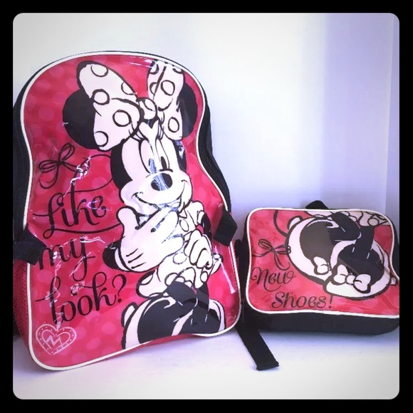 Disney Other - Minnie Mouse  backpack with lunchbox